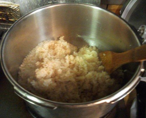 マクロビオテイック料理・玄米の炊き方5