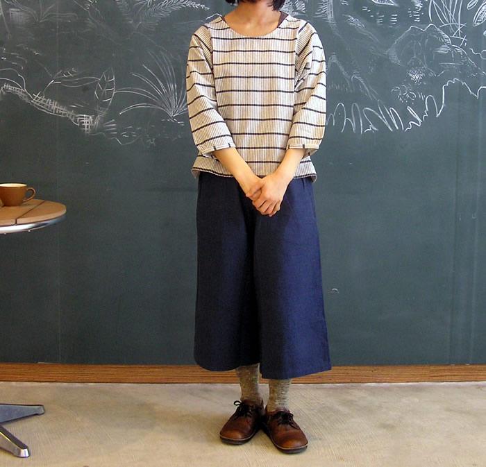 活動的なママの冷えとりファッション*ガウチョパンツ