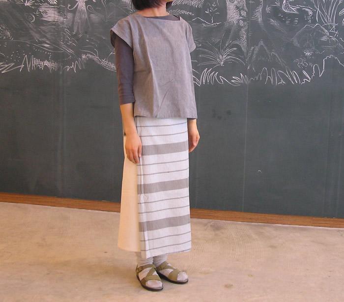 おしゃれな冷えとりファッション*筒型サロンスカート