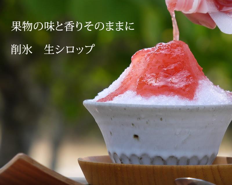 無香料無着色 削氷けずりひ かき氷生シロップ