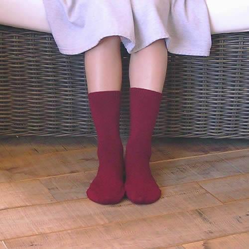 足元の冷え対策に!シルク&ウールで温かく♪