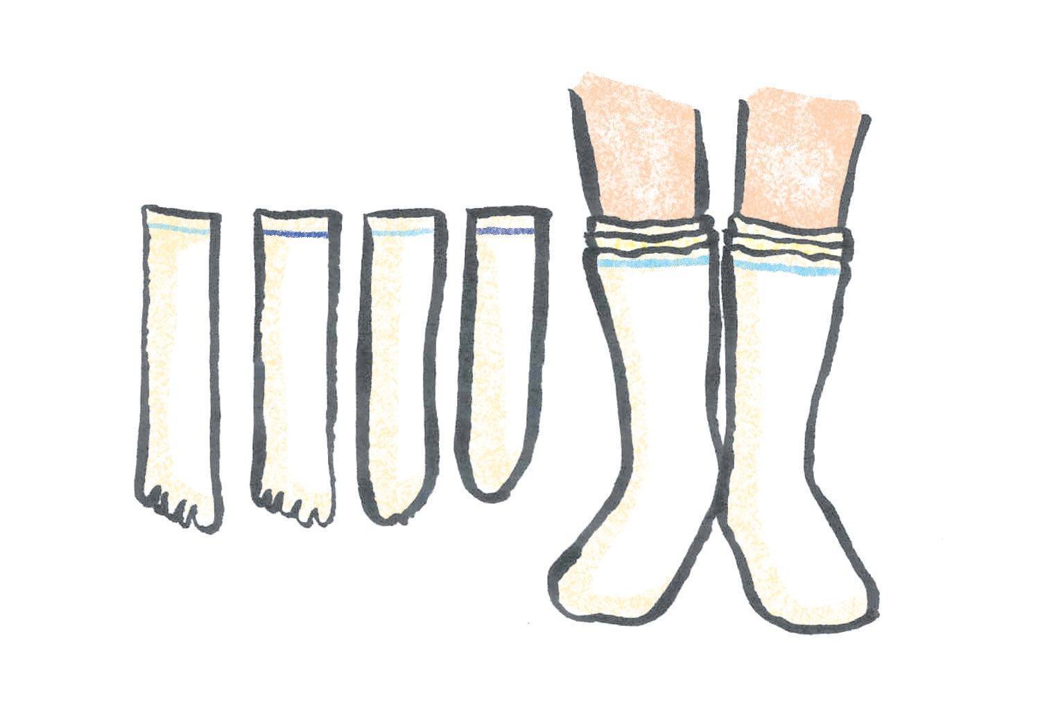 冷えとり靴下の悩み